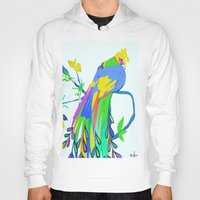 peacock Hoodies featuring Peacock  by Saundra Myles