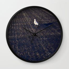 While on the ground Wall Clock