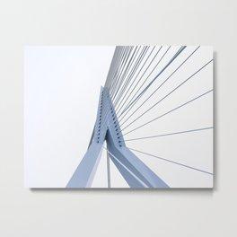 Erasmus Bridge Rotterdam I Modern architecture I The Netherlands I Photography Metal Print
