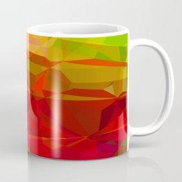 Mixed color Poinsettias 1 Abstract Polygons 3 Coffee Mug