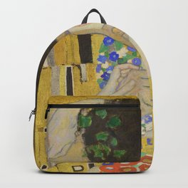 The Kiss - Closeup - Gustav Klimt Backpack