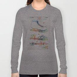 Ice Skate Patent - Sharon Cummings Long Sleeve T-shirt