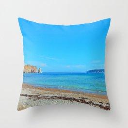 Perce Beach Throw Pillow