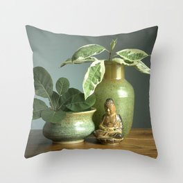 Still Life with Buddha Throw Pillow