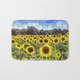 Sunflower Fields Of Dreams Van Goth Bath Mat