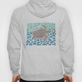 Vanishing Sea Turtle by Black Dwarf Designs Hoody