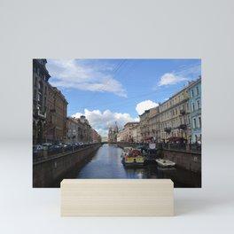 Sunny day in Saint Petersburg Mini Art Print