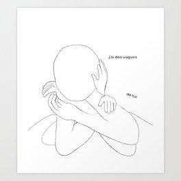 Des vagues de toi Art Print