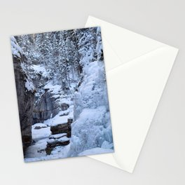Ice Canyon in Canada Stationery Cards