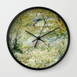 River Bank in Springtime Wall Clock