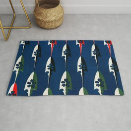 Arrowheads Traditional Japanese Shima-Shima Pattern Rug