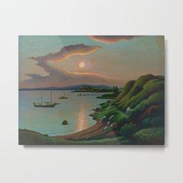 Sunset on Martha's Vineyard by Thomas Hart Benton Metal Print
