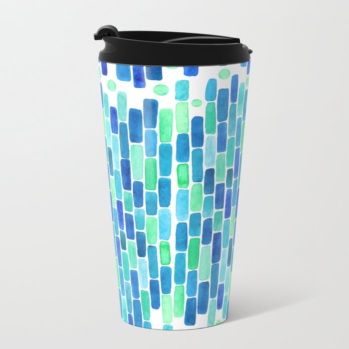 Water Mosaic Metal Travel Mug