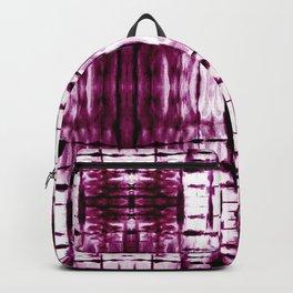 Black Cherry Plaid Shibori Backpack