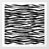Zebra stripes pattern Art Print