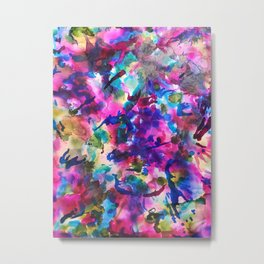 Free to Roam - alcohol ink on photo paper Metal Print