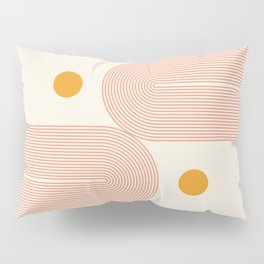 Abstraction_SUN_DOUBLE_LINE_POP_ART_Minimalism_001C Pillow Sham