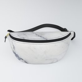 White and gray marble no4 Fanny Pack