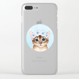 Spring cat Clear iPhone Case