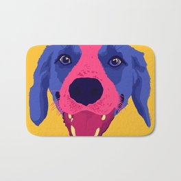 beagle - yellow Bath Mat