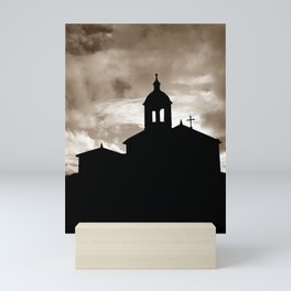 Chapel silhouette Mini Art Print