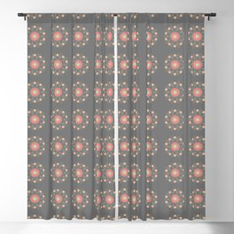 Peaches and Taupe Wisps Blackout Curtain