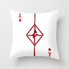 Sawdust Deck: The Ace of Diamonds Throw Pillow