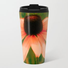Vibrant Orange Coneflower Travel Mug