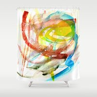 contact Shower Curtains featuring contact by Kay Weber
