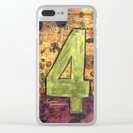 Journey by Number: 4 Repeated Clear iPhone Case