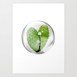 cactus shaped heart Art Print