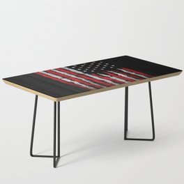 Red & white Grunge American flag Coffee Table
