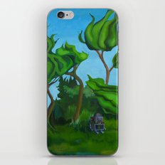 Robot in a Forest Painting iPhone & iPod Skin