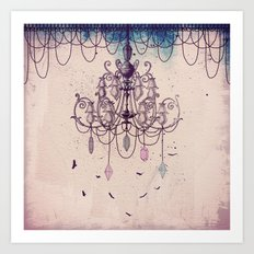 The Chandelier Art Print