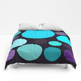 Blue and Purple Dots Comforters