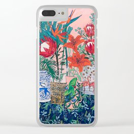 The Domesticated Jungle - Floral Still Life Clear iPhone Case