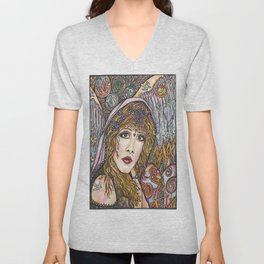 BLAME IT ON MY WILD HEART, STEVIE NICKS Unisex V-Neck