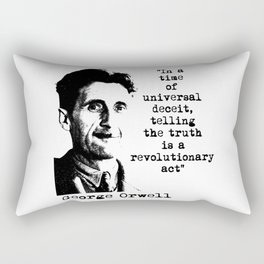 George Orwell Rectangular Pillow