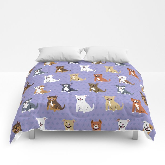American PIT BULL TERRIERS Comforters