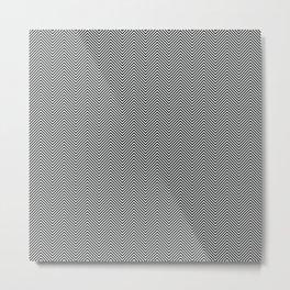 op art - herringbone Metal Print
