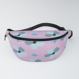 Natural Fowers pattern- retro blue floral pattern  Fanny Pack
