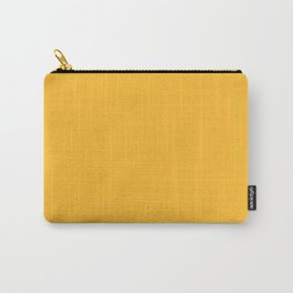 Yellow Butter Solid Summer Party Color Carry-All Pouch