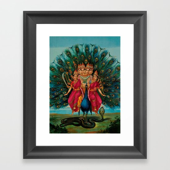 Hindu Poster Art: Hindu Art Framed Art Print By Fine Earth Prints