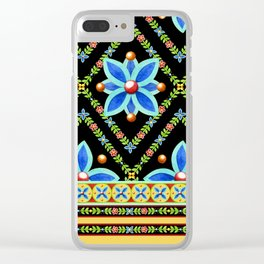 Elizabethan Folkloric Square Clear iPhone Case