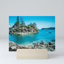 Rocky Island in the Bay Mini Art Print