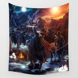 XIV. Temperance Tarot Card Illustration (Color) Wall Tapestry