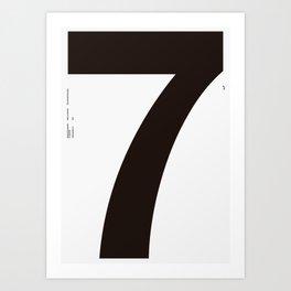Nº7. Helvetica Posters by empatía® Art Print