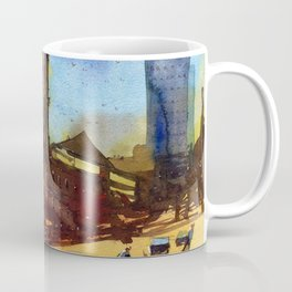 Melbourne Landmarks - Melbourne Town Hall Impressionist Watercolor Painting Coffee Mug