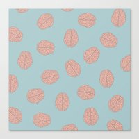 brain Canvas Prints featuring Brain  by Minimum