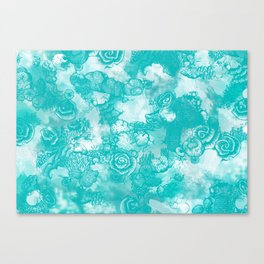 Coral Turquoise  two-tone Canvas Print